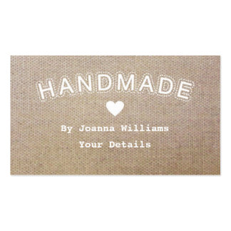 Handmade Burlap Hessian Craft Business Tags 1 Business Card