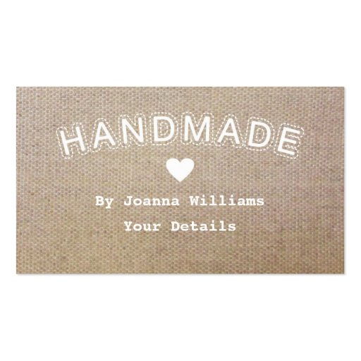 Handmade Burlap Hessian Craft Business Tags 1 Business Card