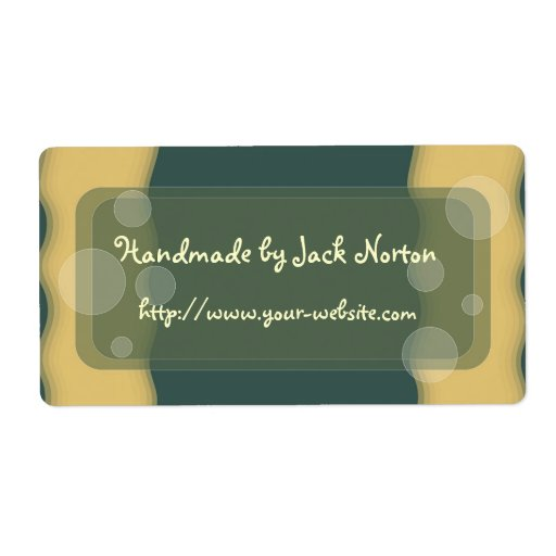 Handmade by - abstract dot design personalized shipping labels