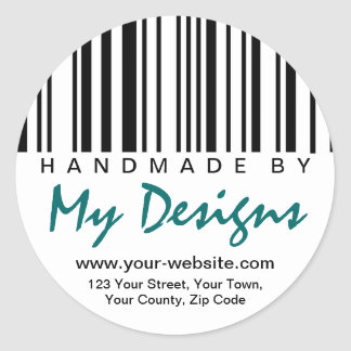 Handmade By Barcode Label Stickers