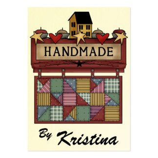 Handmade By Business Enclosure Card - SRF Business Card