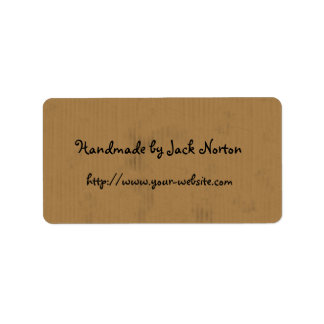 Handmade by - cardboard design label