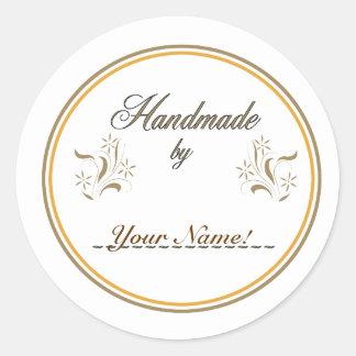 Handmade By... Classic Round Sticker