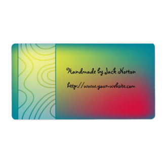 Handmade by - colorful paint design label