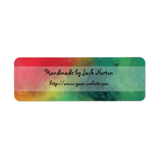 Handmade by - colorful paint design custom return address label
