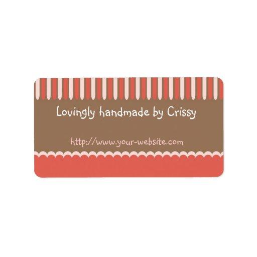 Handmade by - customizable label