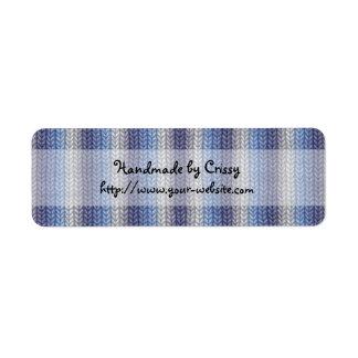 Handmade by - knitting design label