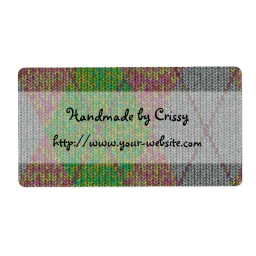 Knitting Labels Handmade : Handmade by knitting design personalized shipping label
