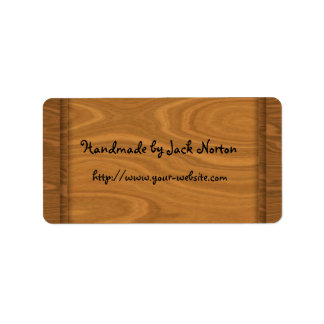 Handmade by - wood design personalized address label