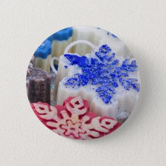 handmade Christmas soap Pinback Button