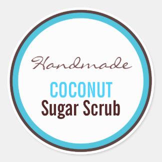 Handmade Coconut Sugar Scrub Classic Round Sticker