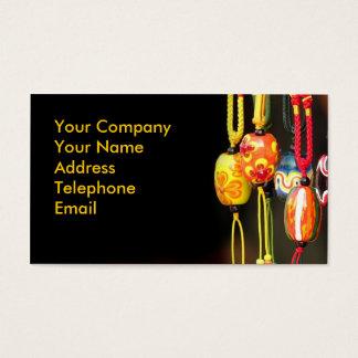Handmade Colorful Glass Beads Business Card