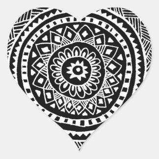 Handmade Design Heart Sticker
