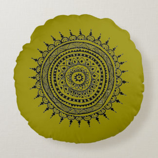 Handmade Design Round Pillow