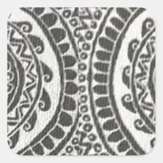 Handmade Design Square Sticker