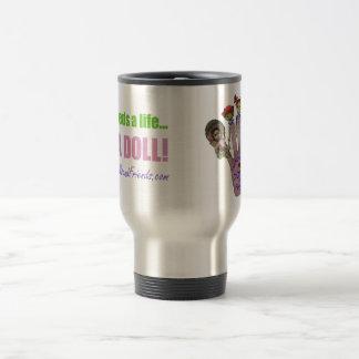 Handmade Dolls and Friends Logo Goodies Travel Mug
