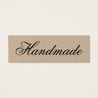 Rustic brown kraft business cards templates zazzle handmade elegant vintage brown kraft business card reheart Images