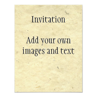 Handmade Fibre Paper 4.25x5.5 Paper Invitation Card