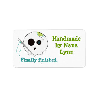 Handmade Finally Skully Gift Tag