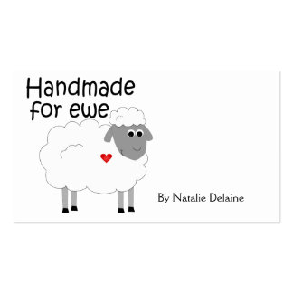 Handmade for Ewe hangtag/ flat giftcard Double-Sided Standard Business Cards (Pack Of 100)