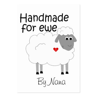 Handmade for Ewe - hangtag/ flat giftcard Large Business Cards (Pack Of 100)