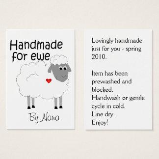 Handmade for Ewe - hangtag/ flat giftcard Business Card