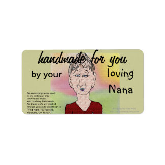 Handmade for you .... label