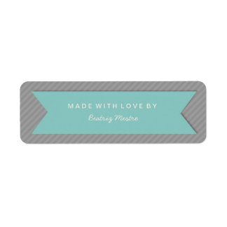 Handmade Gift Tag Labels on Grey Stripes