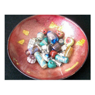 Handmade Glass Beads Postcard