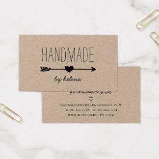 Handmade Heart | Rustic Kraft Business Card