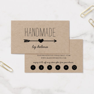 Handmade Heart | Rustic Kraft Loyalty Business Card