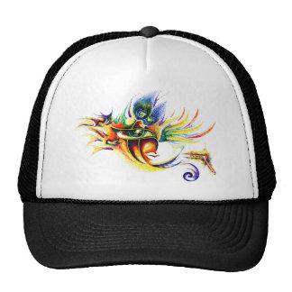 Handmade Ink Drawing of Lord Krishna Trucker Hat