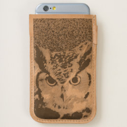Handmade iPhone 6 / 6s Leather Pouch - Owl