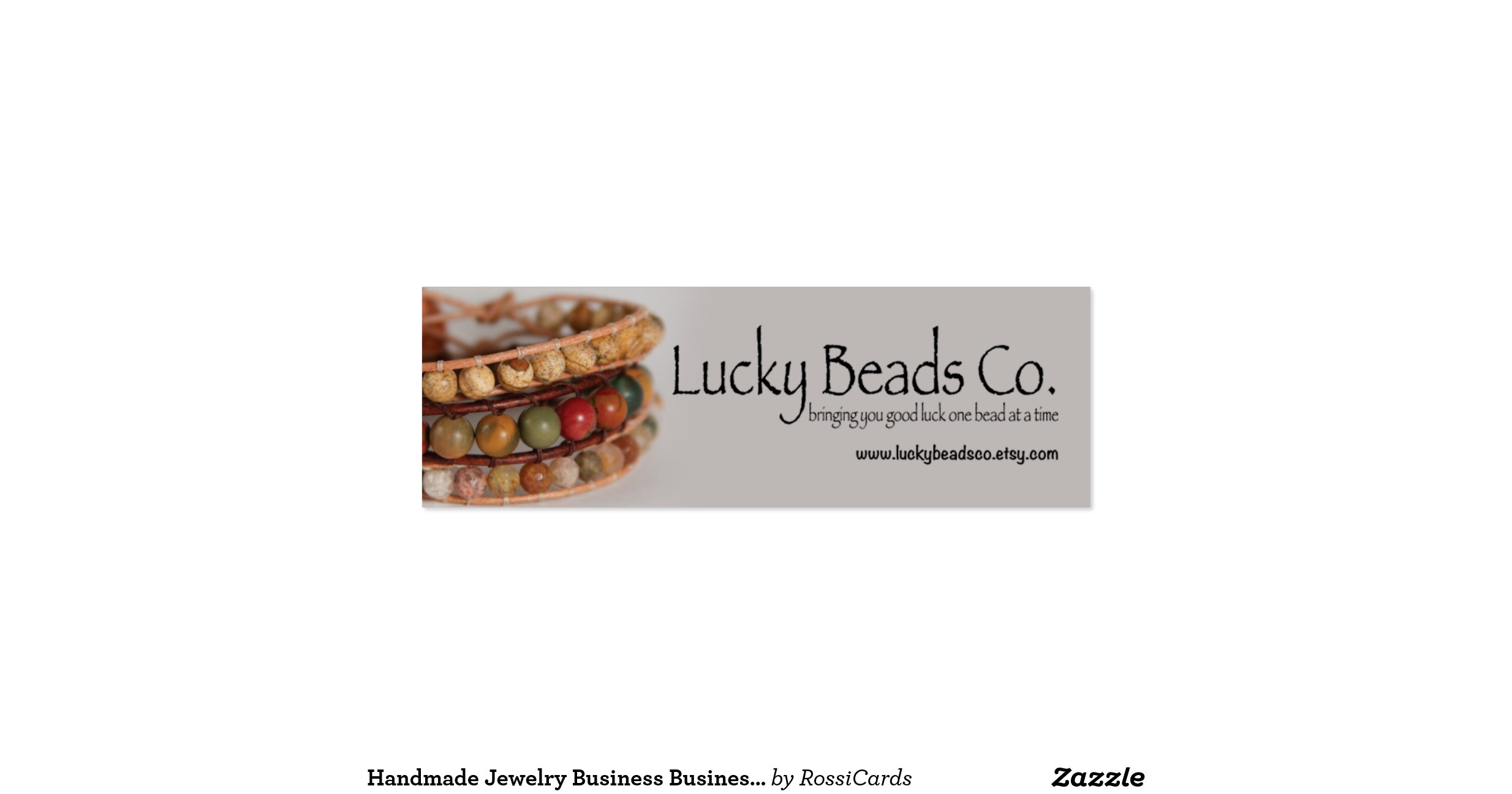 Handmade jewelry business business card for Handmade jewelry business cards