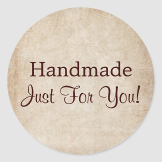 Handmade Just For You Classic Round Sticker
