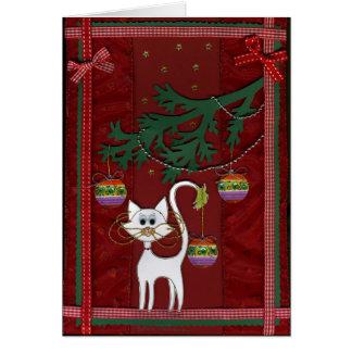 Handmade Kitty Jingle Christmas Card