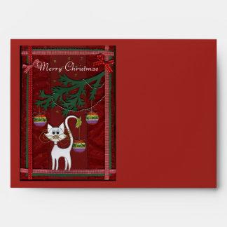 Handmade Kitty Jingle Merry Christmas Envelopes
