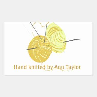 Handmade Knitting Rectangle Stickers