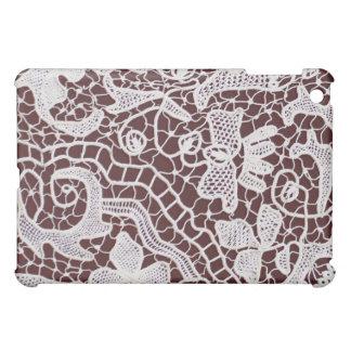 Handmade Lace Bordeaux Background iPad Mini Case