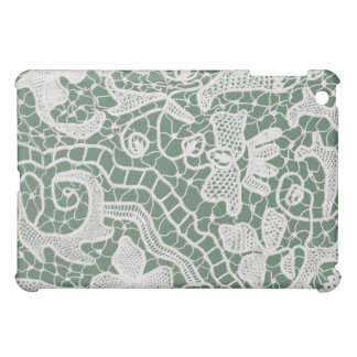 Handmade Lace Green Background Cover For The iPad Mini