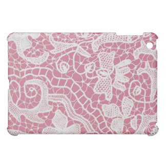 Handmade Lace on Pink Background iPad Mini Case