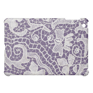 Handmade Lace Violet Background Cover For The iPad Mini