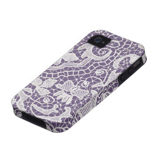 Handmade Lace Violet iPhone 4/4S Case