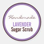 Handmade Lavender Sugar Scrub Sticker