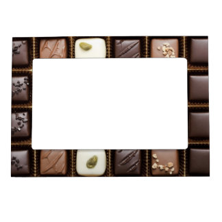 Handmade luxury chocolate in a box magnetic photo frame