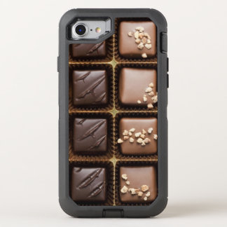 Handmade luxury chocolate in a box OtterBox defender iPhone 8/7 case