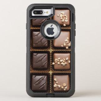 Handmade luxury chocolate in a box OtterBox defender iPhone 8 plus/7 plus case