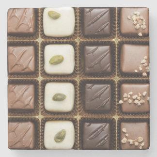 Handmade luxury chocolate in a box stone coaster