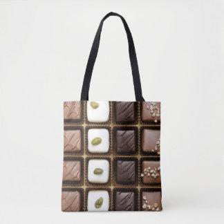 Handmade luxury chocolate in a box tote bag