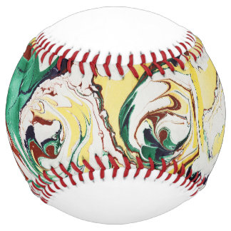 Handmade Marbled Flowers Softball